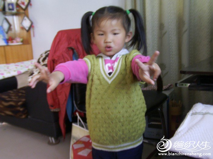 儿童简单 背心 编织 人生