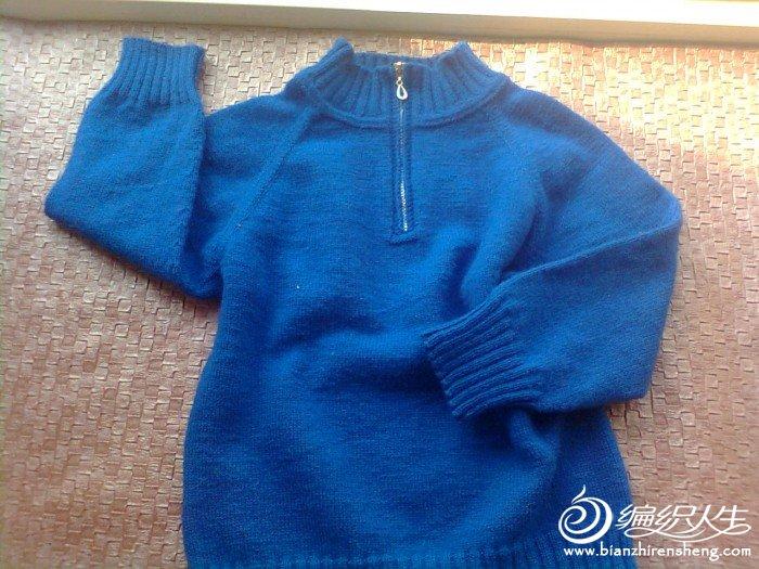 和躲躲藏藏学的拉链毛衣,很成功。感谢躲藏妹了