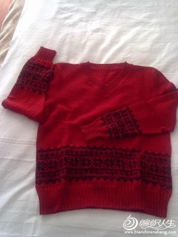 第一次织配色衣衣