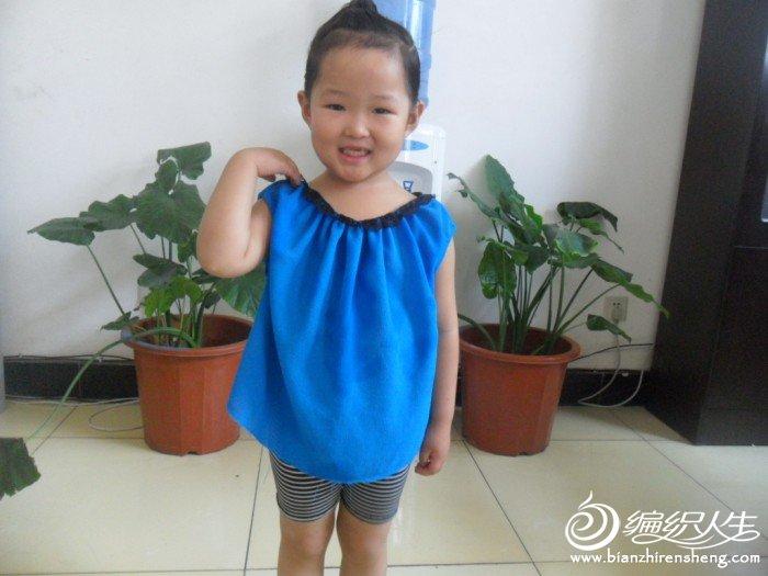 旧衣服改小孩娃娃衫只需两步超可爱