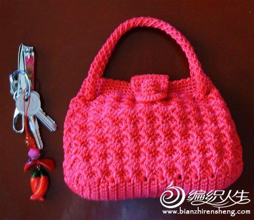编织漂亮的实用小包包 钩针编织小包包图解 钩针编织小包