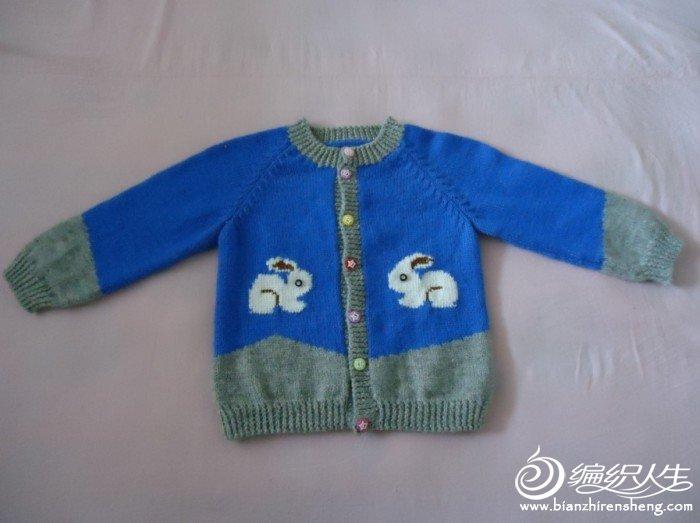 男女宝宝都适合的配色毛衣**新增图解**_编织人生论坛