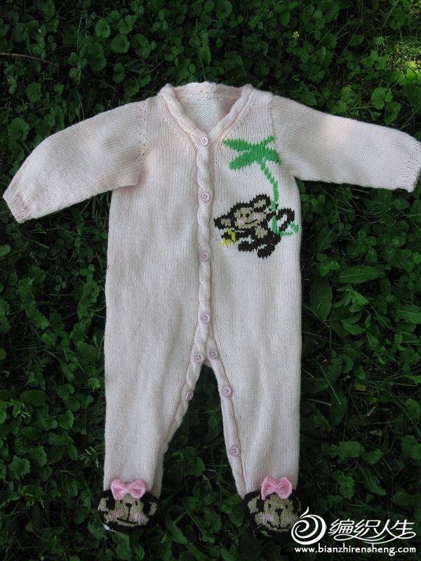 棒针小猴连体衣