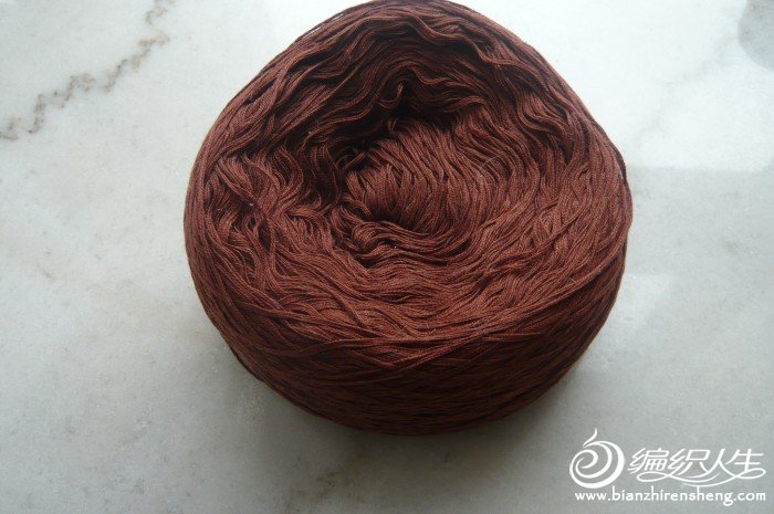 酱色棉线285g,实物偏深点,7元