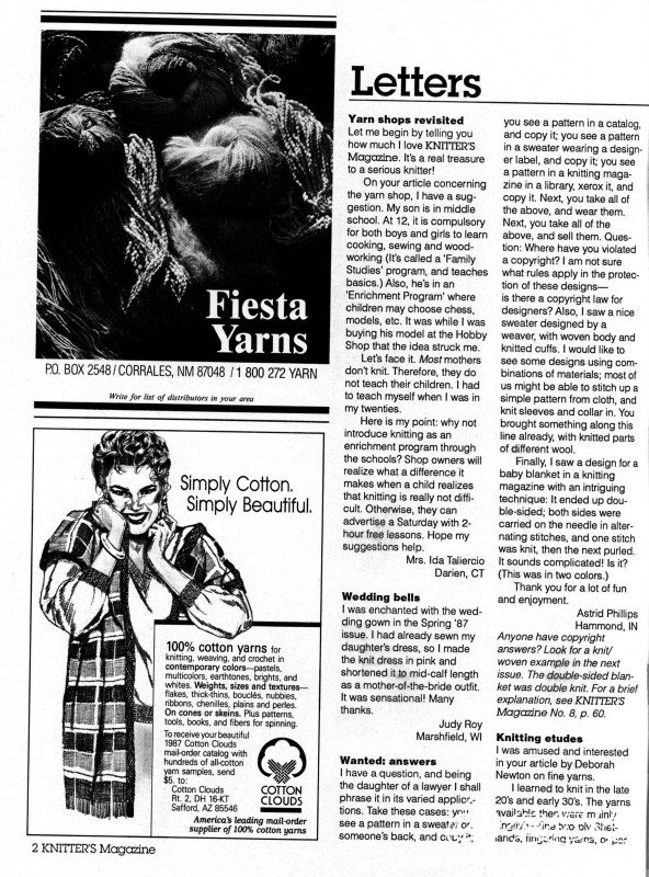 Knitters Issue 9 Winter 1987_page4_image1.jpg