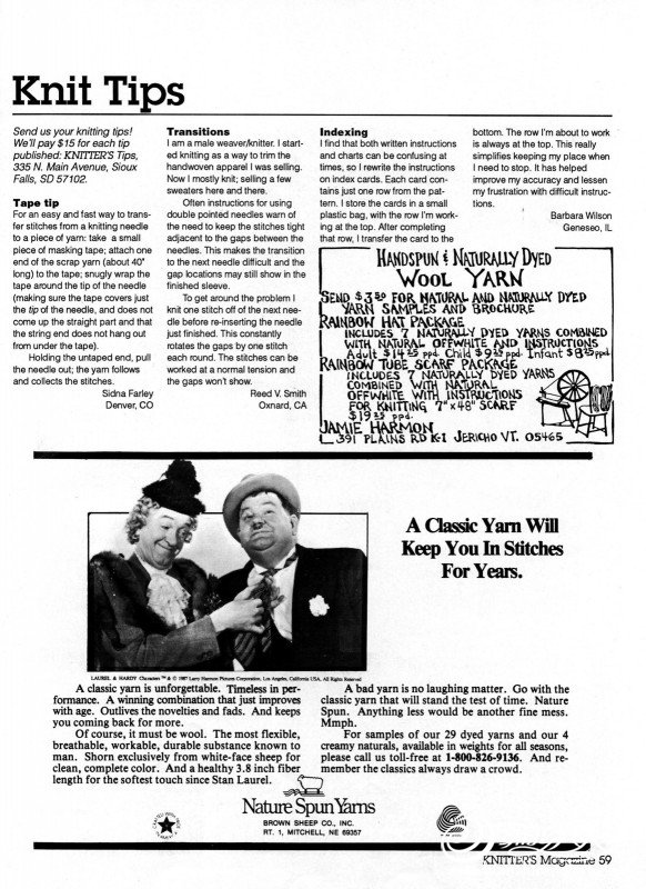 Knitters Issue 9 Winter 1987_page60_image1.jpg