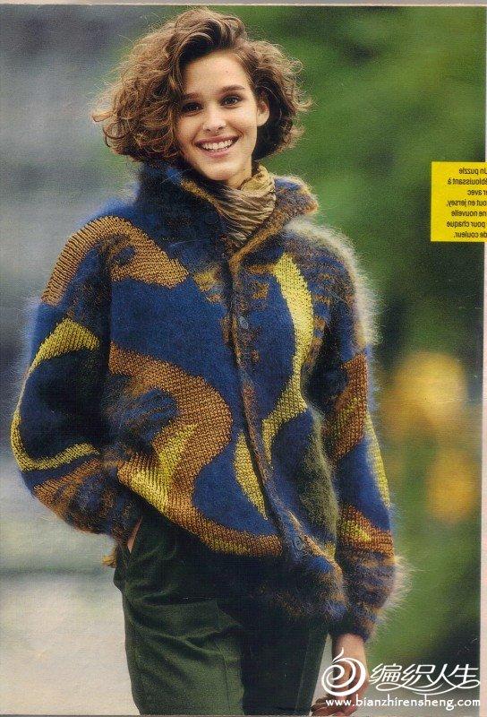 (转)来自法国编织杂志Sandra的女士毛衣1-赤道玫瑰译 - 羽蝶 - 化羽成蝶的博客