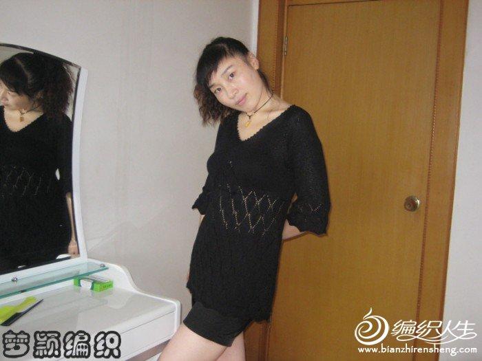 初秋黑色时尚韩版宽中袖衣5.jpg
