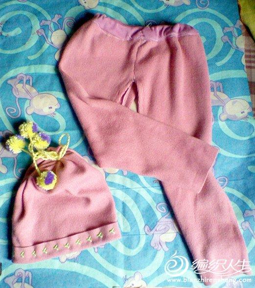 剩下的材料给宝宝做了一条裤子