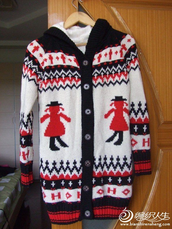 台格品牌花色毛线大衣M码的人穿,只穿过二次,原价198,现价80元