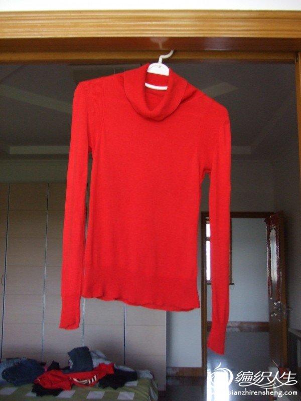 浪漫一身品牌红色毛衣,S码,原价200多,现价25元