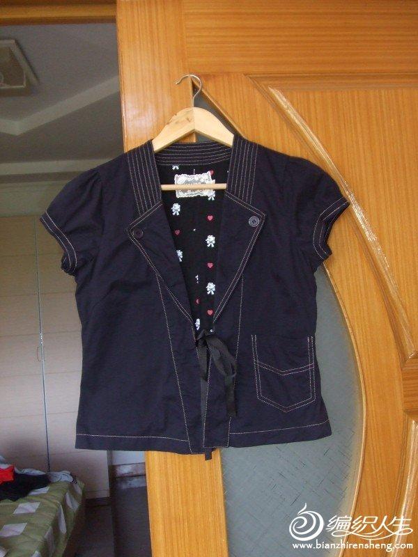 YOUNG品牌藏青色短袖全棉外套,只穿过一回M码,原价100多,现价20元