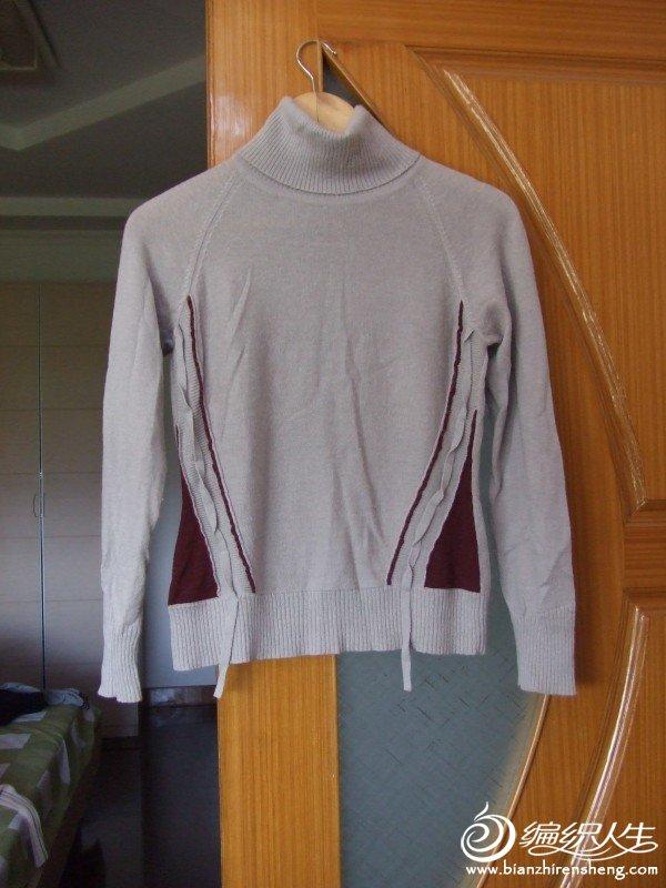 OAO品牌灰色毛衣,含43%羊毛4%羊绒成分,M码,原价200多,现价30元