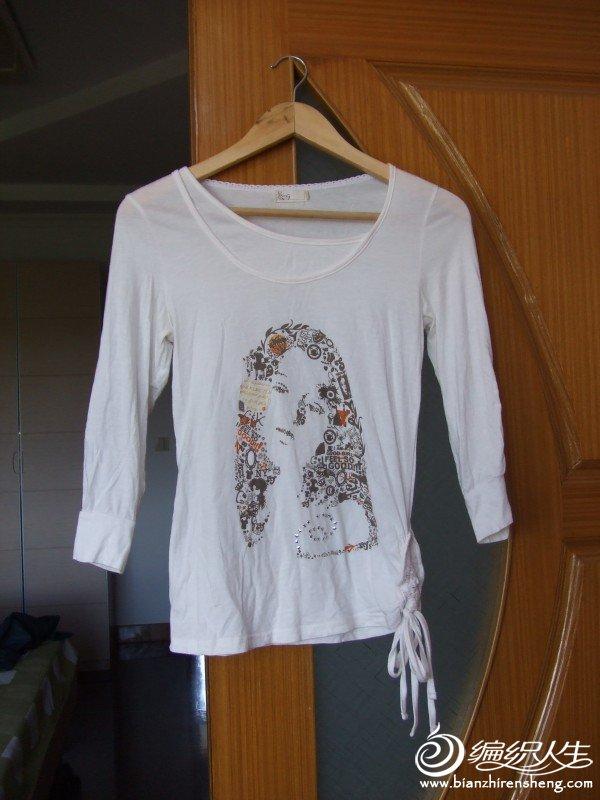 YONG品牌白色全棉T恤,只穿过二三回,现价10元