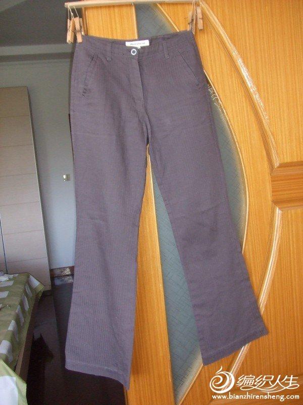 美特斯邦威灰色全棉长裤,S码,现价5元