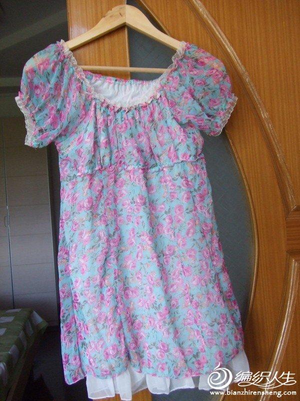 小碎花雪纺裙,M码,现价5元