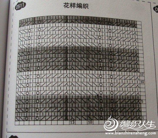 图解第6行,第12行,第18行和32行织上针