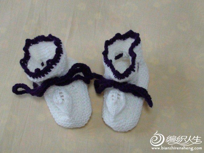 我结的第一双宝宝鞋,自我感觉良好
