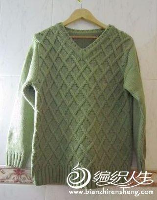 绿色大毛衣,想入哎.jpg