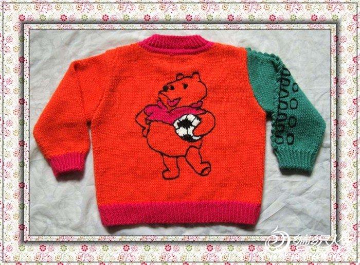 儿童卡通鳄鱼毛衣
