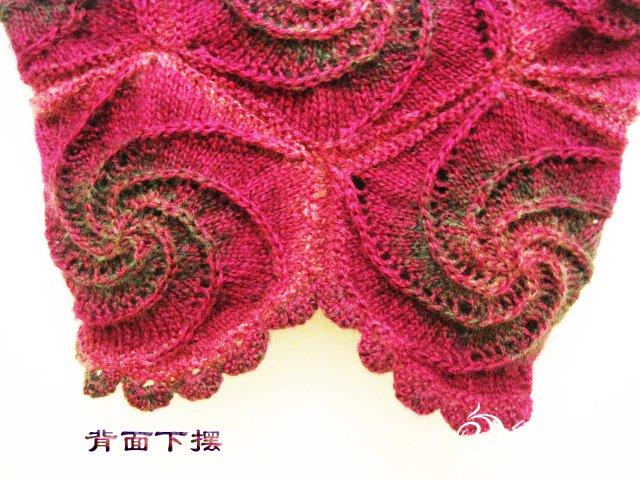 织姐手工--螺旋花外套下摆