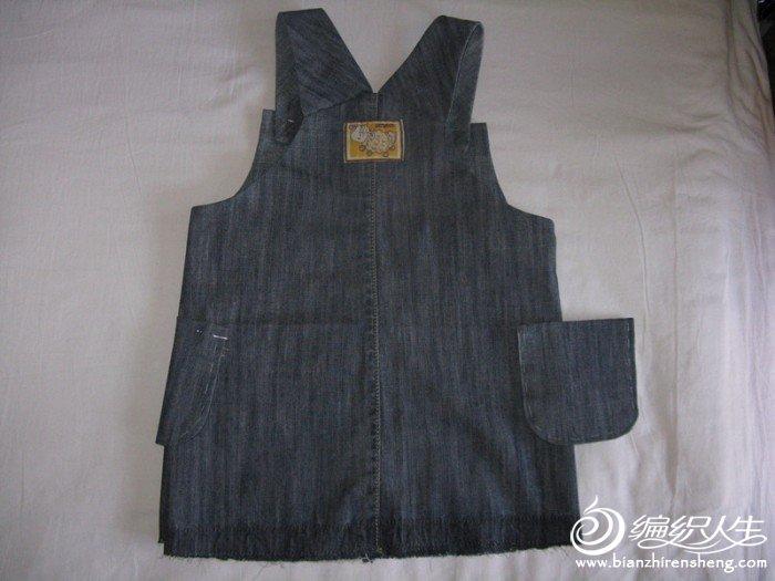 69 服装设计与裁剪 69 用大人牛仔裤给闺女改的背心裙,有详细过程