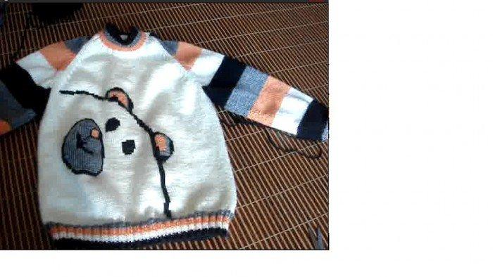 宝宝背心编织动物图解