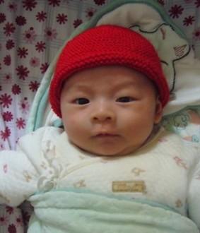 全是下针的红帽子,超柔软的哦