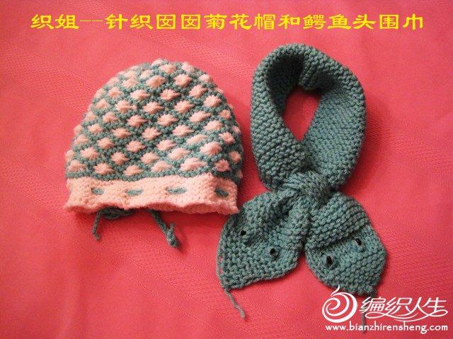 织姐--针织囡囡菊花帽和鳄鱼头围巾.jpg