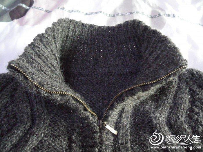 毛衣领口细节