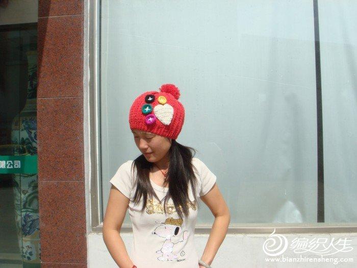 给女儿的帽子,大人戴着也蛮好看的