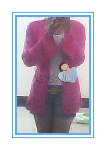 秋衣当时--玫红长袖开衫 - 随心索衣 - 随心索衣