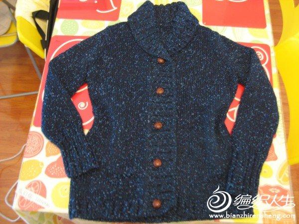 春节前给老妈织的青果领外套