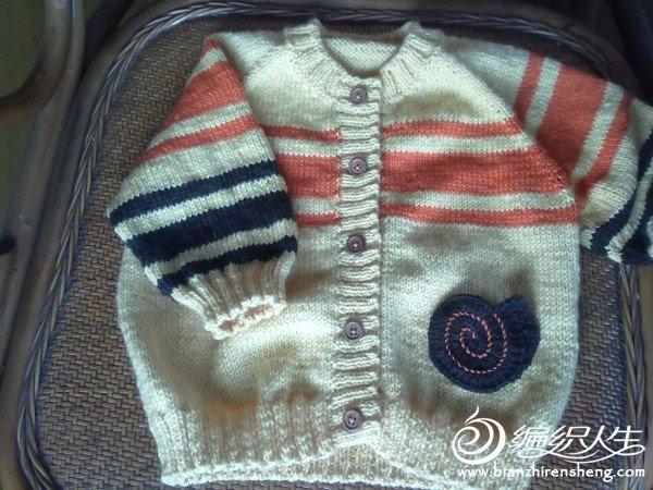 织的第一件带袖子的衣服。论坛里仿的,谢谢编织博士http://bbs.bianzhirensheng.com/thread-291024-1-1.htm ...