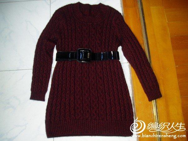山羊绒长款毛衣1