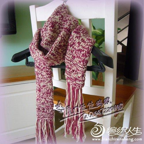 第一次织的围巾