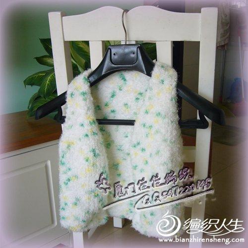 给1岁半宝宝织的保暖马甲