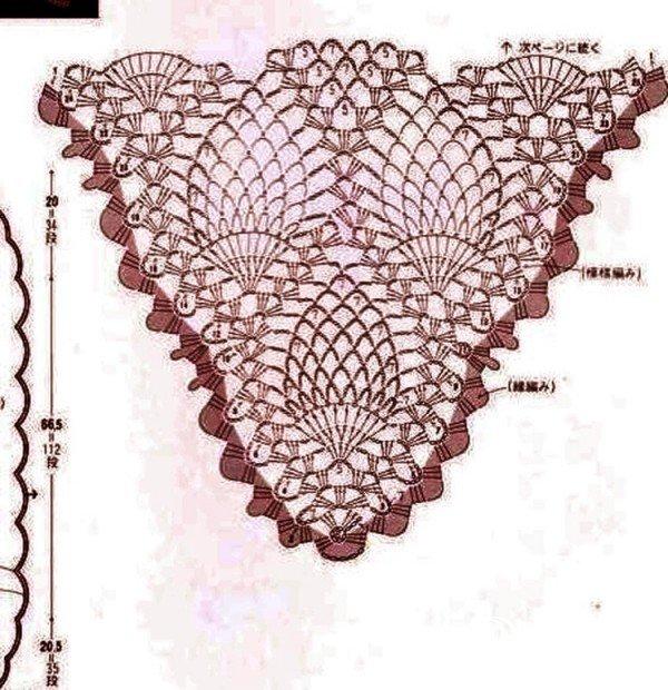 菠萝花小围巾图解1