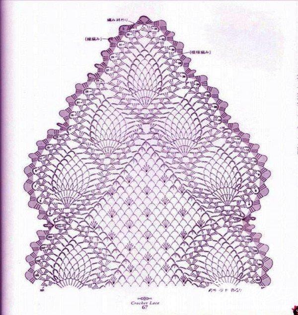 菠萝花小围巾图解3