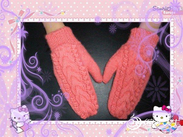 嘻嘻晒晒织的第一付手套