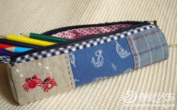 编织资讯 手工diy 布艺手缝笔袋初级教程(毛线编织包包亦可参考)  3