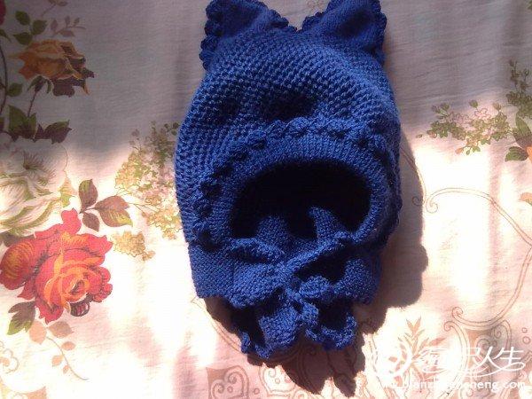 嫂子打电话来要我给小孙子织个帽子,我连夜给赶织了这款小兔子帽子,姐妹们看看好看不?