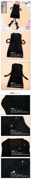 立体花朵圆领毛衣裙黑.jpg