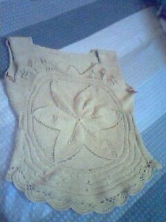 从六角花的正中开始织