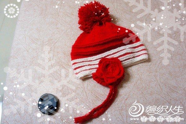 【小白编织】简单又可爱的宝宝护耳帽