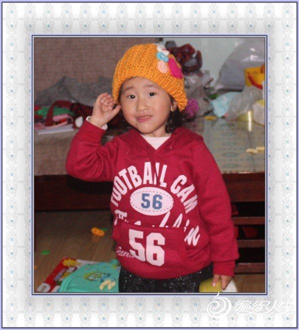 送朋友小孩的帽子。兰香家的特价棉线。