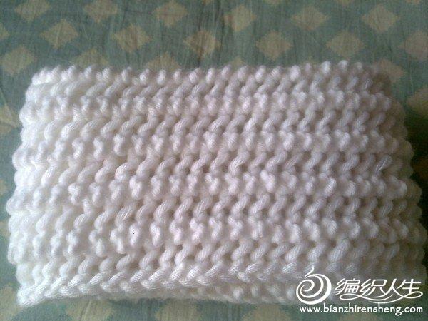 一帘幽梦围巾,用大棒针织的鱼骨针围巾和儿子的海军服一起来了