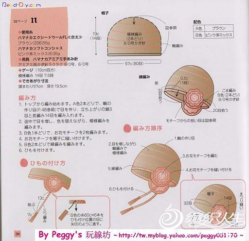粉棕帽子图解