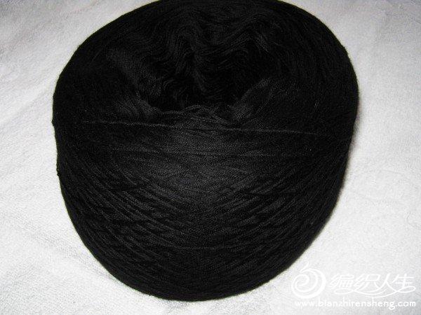 纯黑精纺48支山羊绒