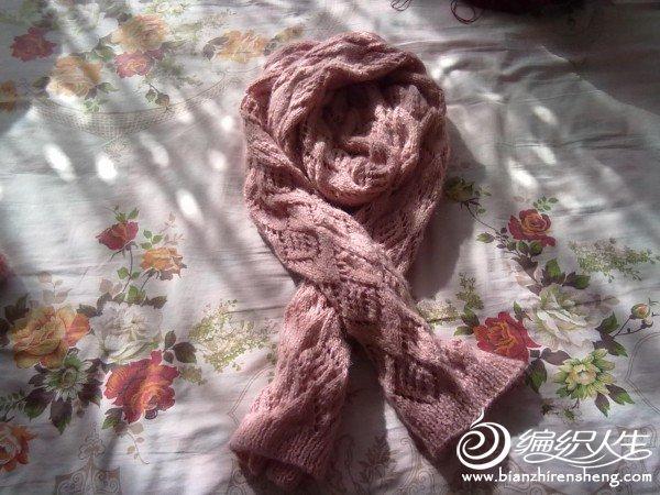 给闺女织的大围巾